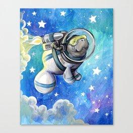 Space Man... atee Canvas Print