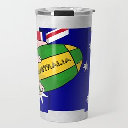 Australia Rugby Ball Travel Mug