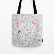 Mandalas flowers and birds Tote Bag