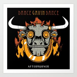 gavin dance after burner logo 2021 Art Print