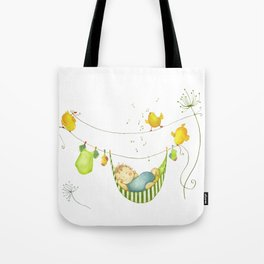 Baby sleeping Tote Bag
