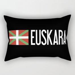 Basque Country: Basque Flag & Euskara Rectangular Pillow