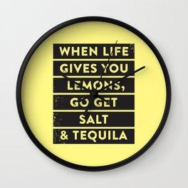 Lemons. Wall Clock