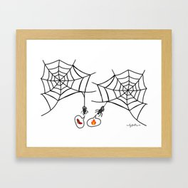 Catching up with friends Framed Art Print