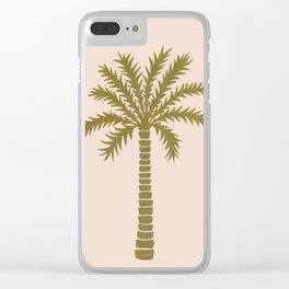 Gold Palm Tree Clear iPhone Case