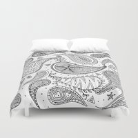 paisley Duvet Covers featuring Paisley by Janet Guevara
