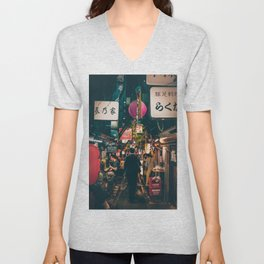"PHOTOGRAPHY ""Typical Japan Street"" Unisex V-Neck"