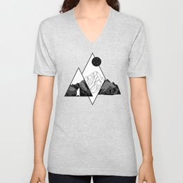Mountains and Bear Lines Unisex V-Neck