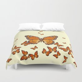 MONARCH BUTTERFLY SWARM Duvet Cover