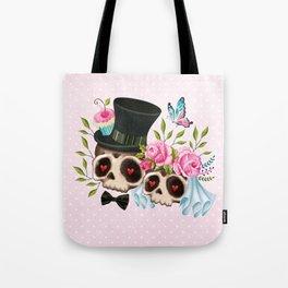 Together Forever - Sugar Skull Bride & Groom Tote Bag
