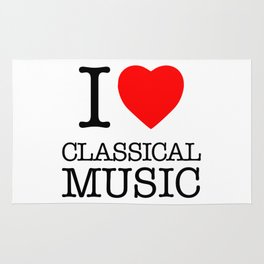 I Love Classical Music Rug