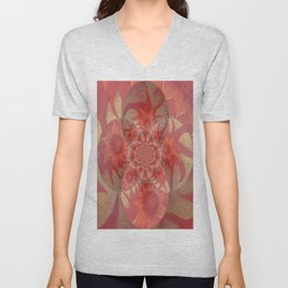 Radiantly Red- Revamped Unisex V-Neck