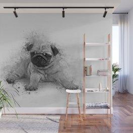 Pug Art Wall Mural