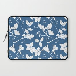 Drawings from Stonecrop Garden, Pattern in Blue & White Laptop Sleeve