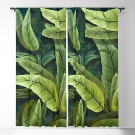 """Retro Tropical Tiki Fantasy 02"" Blackout Curtain"