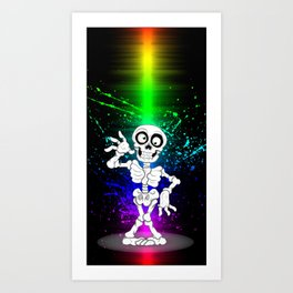 Halloween Skeleton Art Print