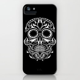 Day of the Dead Skull - Hearts iPhone Case