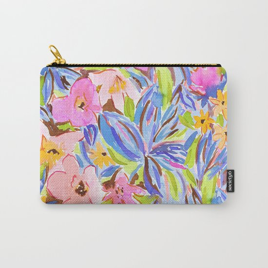 Flaunting Floral Periwinkle Carry-All Pouch