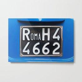 Rome: License Plate Metal Print