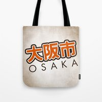 hentai Tote Bags featuring Osaka shi by Nxolab