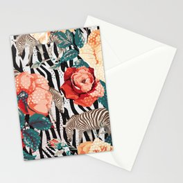 Pattern flowers-animals Stationery Cards