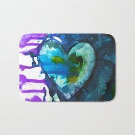 Eternal Heart No. 13J by Kathy Morton Stanion Bath Mat