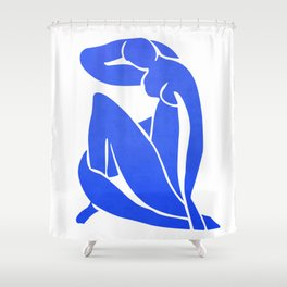 BLUE MATISSE CUT OUT Shower Curtain