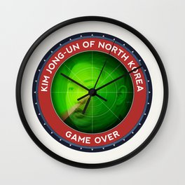 Game Over For Kim Jong-Un Wall Clock
