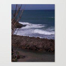 Beach Scene - San Juan, Puerto Rico Canvas Print