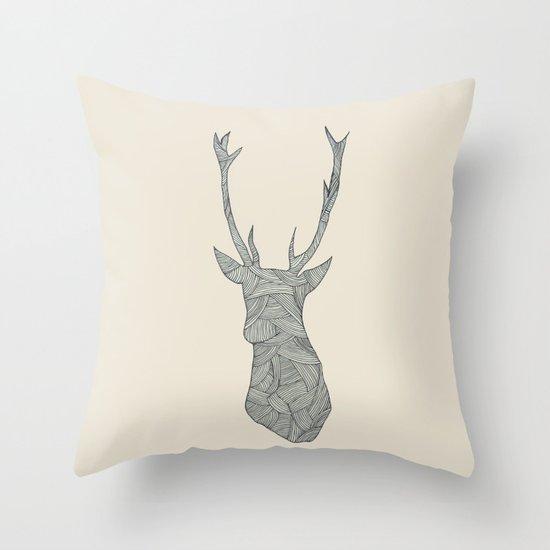 Deer. Throw Pillow