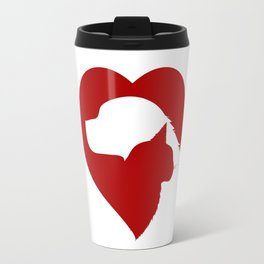 Pet Rescue Cat and Dog Red Heart of Love Travel Mug