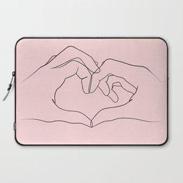 pink heart hands Laptop Sleeve