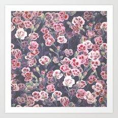 Carnations Pattern Art Print