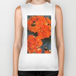 Orange Flowers Biker Tank