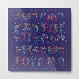 Indian Wedding Celebration Metal Print