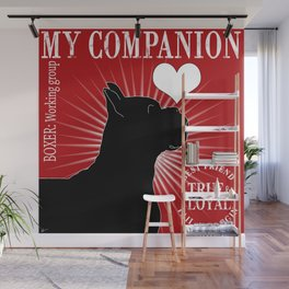 BOXER – My Companion - Red  Wall Mural