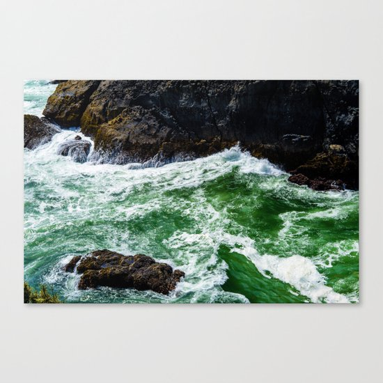 Emerald Sea Foam Canvas Print
