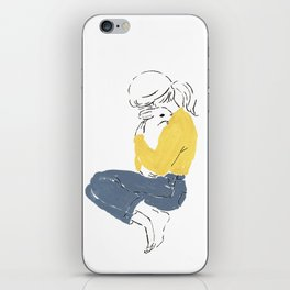 Love and peace iPhone Skin