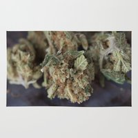 medical Area & Throw Rugs featuring Medical Marijuana Deep Sleep by BudProducts.us