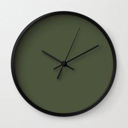 Pratt and Lambert 2019 Sierra Night (Dark Green) 18-17 Solid Color Wall Clock
