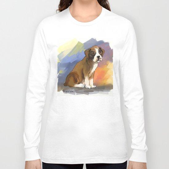 Sitting Boxer Long Sleeve T-shirt