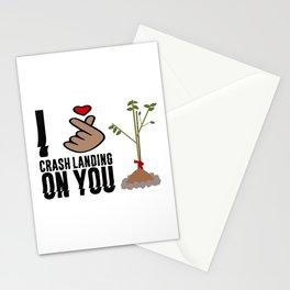 Crash Landing On You - I love Crash Landing On You Stationery Cards