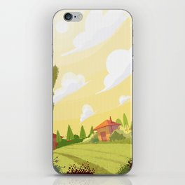 Campagne ensoleillée / Sunny countryside iPhone Skin