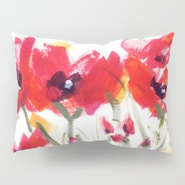 Red Poppy Graphic Pillow Sham