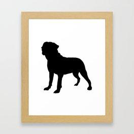 Bullmastiff Silhouette Framed Art Print