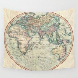 Vintage Map of The Eastern Hemisphere (1801) Wall Tapestry