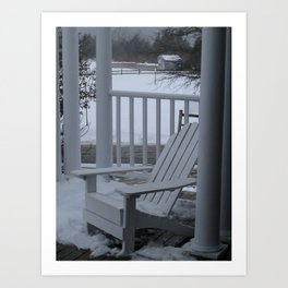 Winter Seaside 2 Art Print