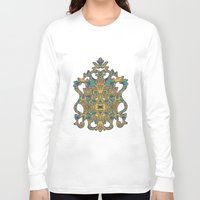 arabic Long Sleeve T-shirts featuring Arabic Marigold by GEETIKAGULIA