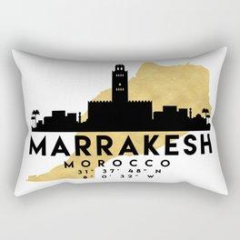 MARRAKESH MOROCCO SILHOUETTE SKYLINE MAP ART Rectangular Pillow