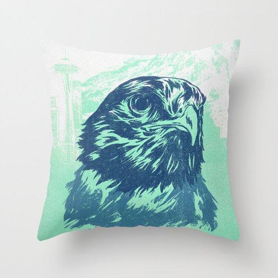 Go Hawks Throw Pillow